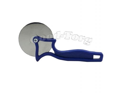 Нож для пиццы синяя ручка