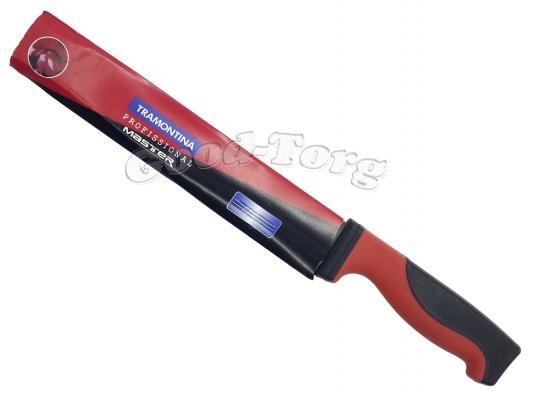 Нож MASTER красно черная резиновая ручка 9-ка  355 мм.