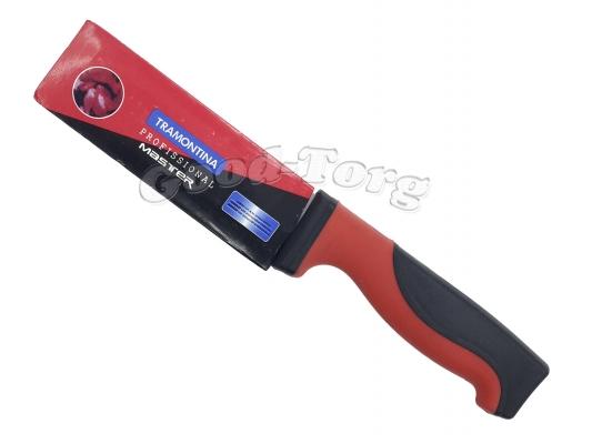 Нож MASTER красно черная резиновая ручка 5-ка  250 мм.