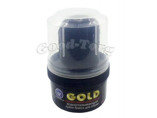 Крем-блеск для обуви GOLD для обуви 60мл. - черный (1 пач.=12 шт.)