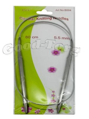 Спицы для вязания на тросике, вязальные спицы 5.5 мм