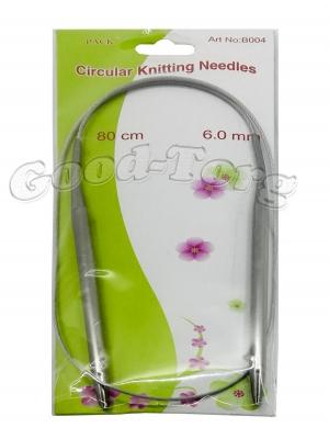 Спицы для вязания на тросике, вязальные спицы 6.0 мм