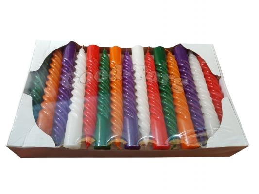 Свеча Венгерская цветная 19 см. 1 уп. = 30 шт.