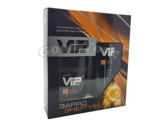 Набор для мужчин VIP, Заряд энергии ( пена для бритья, лосьон после бритья )