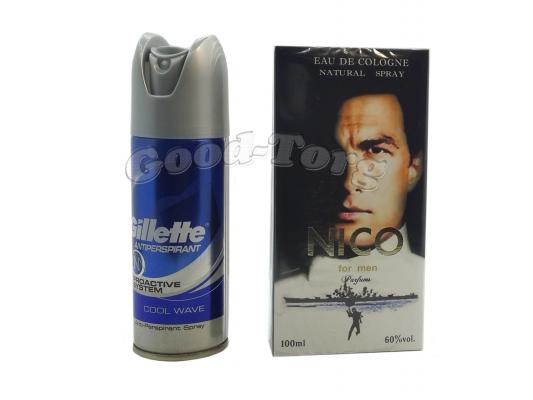 Набор для мужчин Nico ( одеколон 100 мл., дезодорант )