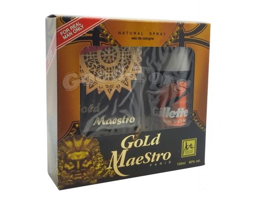 Набор для мужчин Gold Maestro ( одеколон 100 мл., дезодорант )