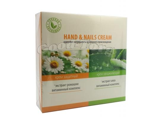 Набор Зеленая косметика ( крем для рук увлажняющий 100 мл., крем для рук защитный 100 мл. )