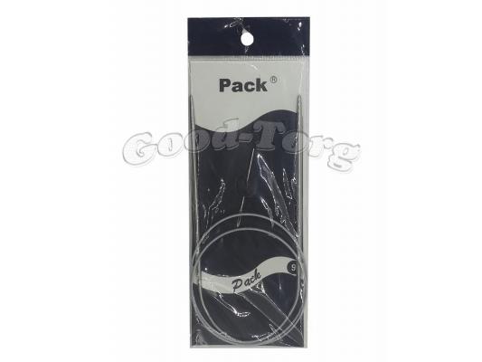 Спицы для вязания на тросике + игла  6 мм
