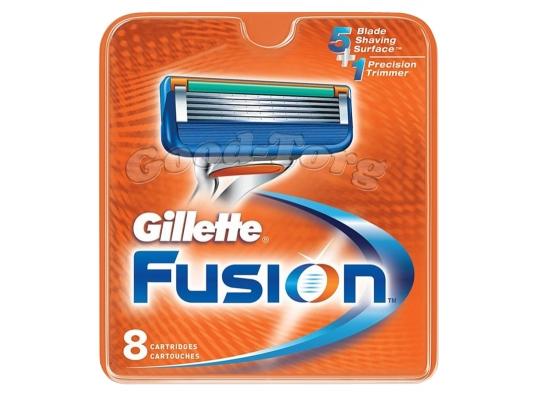 Картриджи Gillette Fusion, оригинал, 1 уп = 8 шт.
