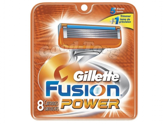 Картриджи Gillette Fusion  POWER, оригинал, 1 уп = 5 шт.