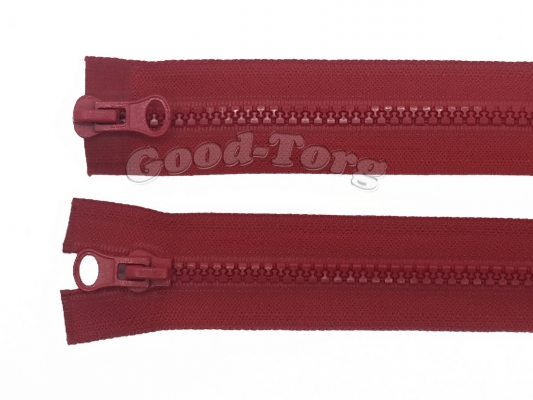 Молния Трактор № 5, разъемная, красная, 40 см. 1 уп. = 10 шт.