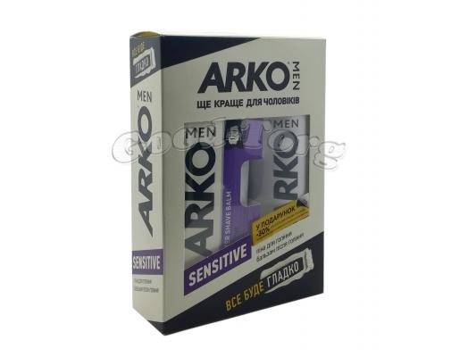 Набор подарочный мужской, Arko - пена (200 мл)/бальзам (150 мл)