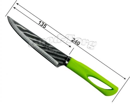 Нож разноцветная ручка