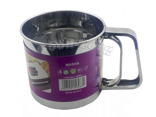 Чашка сито для муки, большая, диаметр. 12,5  см. глубина 14 см.