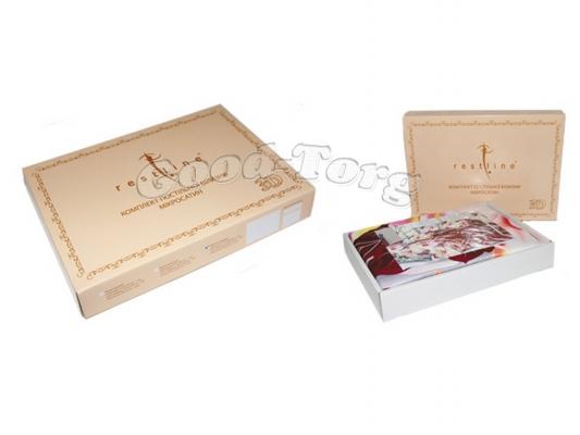 Постельное белье «Restline» 3D, N-12 евро (Пододеяльник 1 шт. 215х200 см. Простыня 1 шт. 215х240 см. Наволочка 2 шт. 70х70 см.)