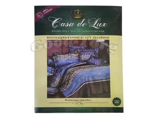 Постельное белье Casa de Lux (зеленая упаковка) N9, семейный (Пододеяльник 2 шт. 215х145 см. Простыня 1 шт. 220х200 см. Наволочка 2 шт. 70х70 см.)