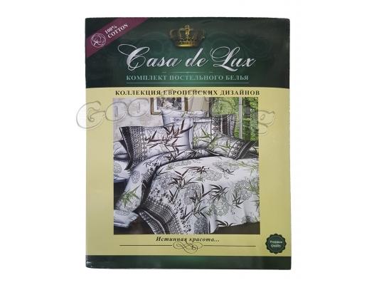 Постельное белье Casa de Lux (зеленая упаковка) N12, евро (Пододеяльник 1 шт. 220х200 см. Простыня 1 шт. 220х200 см. Наволочка 2 шт. 70х70 см.)