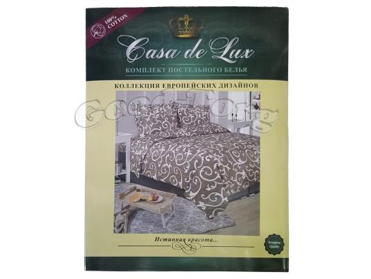Постельное белье Casa de Lux (зеленая упаковка) N8, семейный (Пододеяльник 2 шт. 215х145 см. Простыня 1 шт. 220х200 см. Наволочка 2 шт. 70х70 см.)