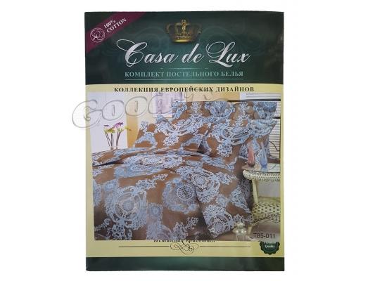Постельное белье Casa de Lux (зеленая упаковка) N11, двойной (Пододеяльник 1 шт. 215х175 см. Простыня 1 шт. 215х180 см. Наволочка 2 шт. 70х70 см.)