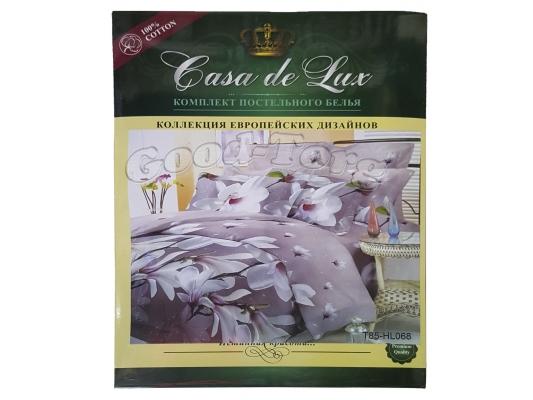 Постельное белье Casa de Lux (зеленая упаковка) N16, евро (Пододеяльник 1 шт. 220х200 см. Простыня 1 шт. 220х200 см. Наволочка 2 шт. 70х70 см.)