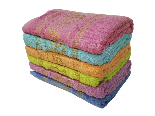 Полотенце для кухни N35 - 50 х 90 махра, цвета в ассортименте (1 уп. = 6 шт.)