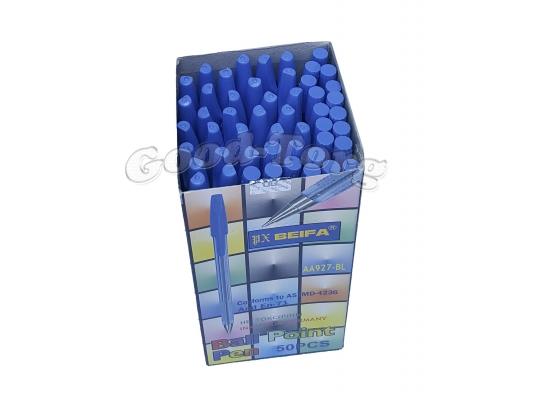 Ручка шариковая Biefa 927 синяя, в уп. 50 шт.