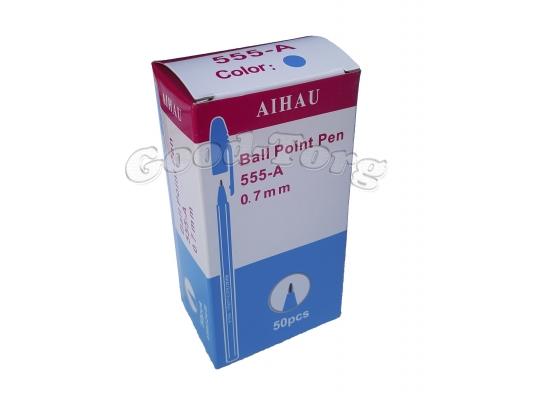 Ручка шариковая 555 синяя (дубликат), в уп. 50 шт.