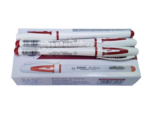 Ручка гелевая Aihao 801А красная, в уп. 12 шт.