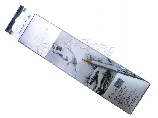 Набор простых карандашей разной твёрдости Marco 7000-6(1),(НВ,2В,4В,6В,7В,8В)