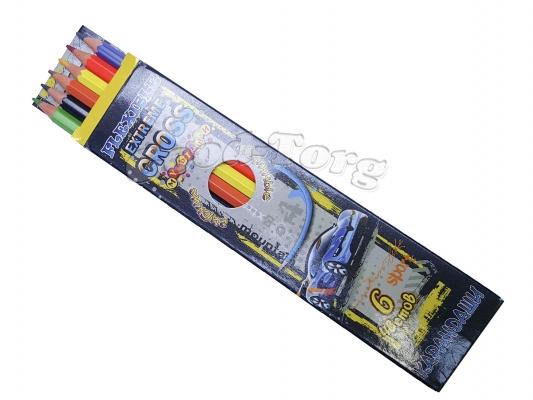 Карандаши Мультяшки гибкие 6 цветов (картинки для мальчиков) дешевая