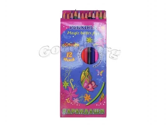 Карандаши Мультяшки гибкие 12 цветов (картинки для девочек)