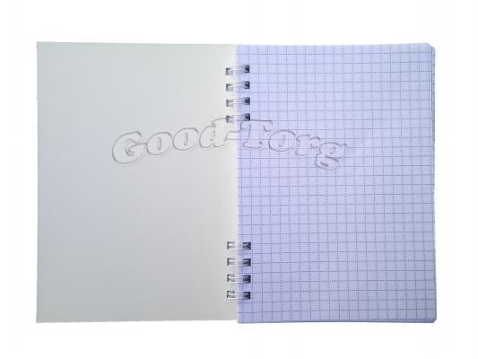 Блокнот А6 80 листов на боковой пружине