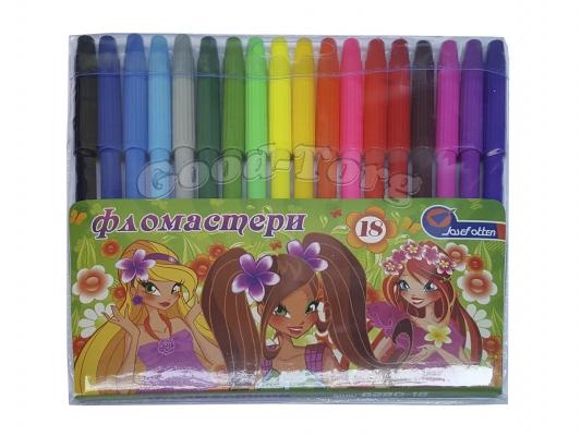 Фломастеры J.Otten 18 цветов рисунки для девочек