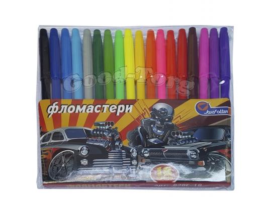 Фломастеры J.Otten 18 цветов рисунки для мальчиков