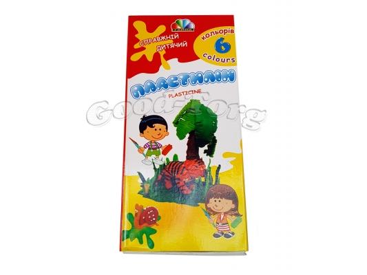 Пластилин Гамма 6 цветов
