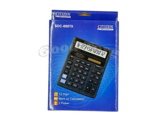 Калькулятор Citizen 888 (оригинал), 12 разрядов,двойное питание
