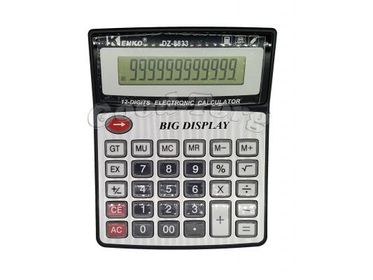 Калькулятор Kenko 8833, 12 разрядов, прозрачные кнопки