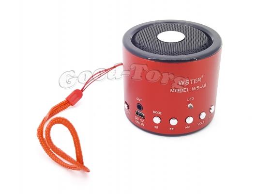 Мини колонка WS-A8  USB + FM радио