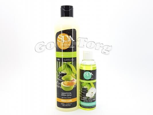 Набор женский SPA aroma collection fresh (Шампунь крем - душ + шампунь гель - душ)