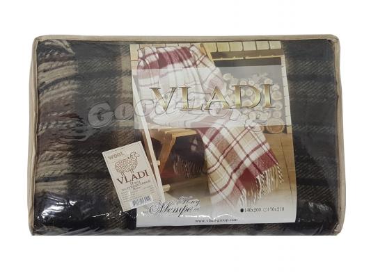 Пледы шерстяные VLADI двойной  175*220 см. - цвета в ассортименте