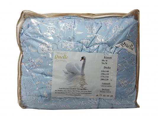 Одеяло лебяжья пух цветной   175*215 см.
