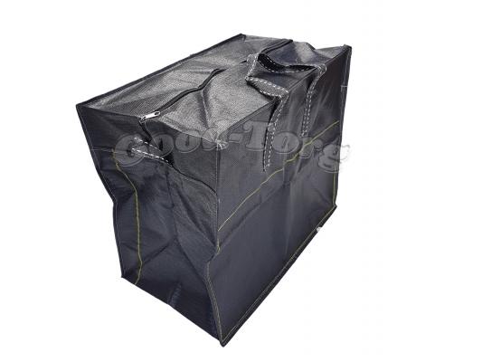 Сумки плотные черные N7 1 уп. = 3 шт. 80х60х40 см.