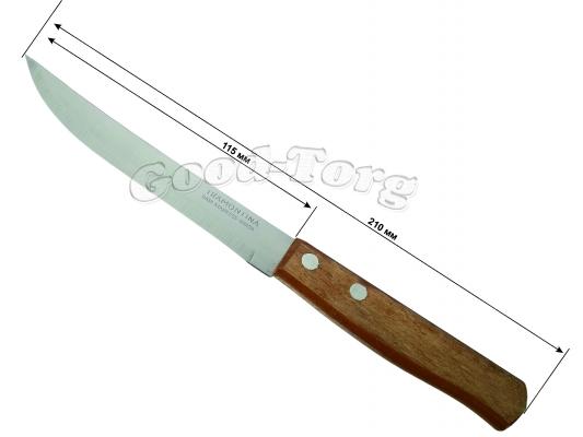 Нож на планшете  210 мм., ровный, деревянная ручка, 12 шт. (продажа листом)