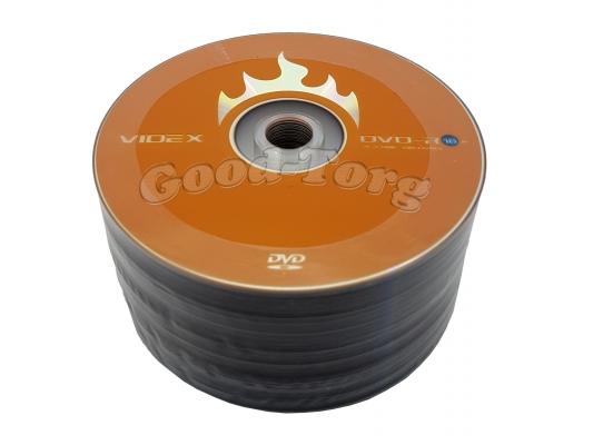 Диски VIDEX DVD-R  1 уп. = 50 шт.