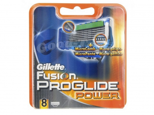 Картриджи Gillette Fusion Proglide power original 8 шт.