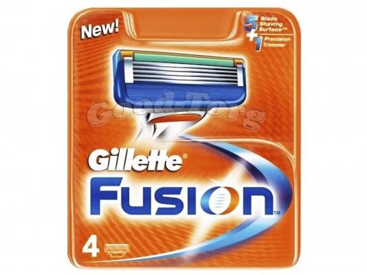 Картриджи Gillette Fusion original 4 шт.
