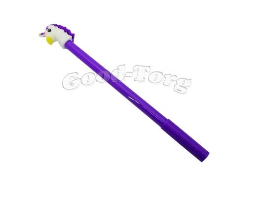 Ручка гелевая единорог  цвет синий.