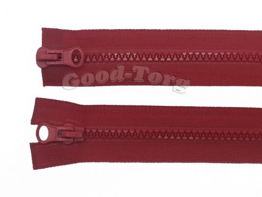 Молния Трактор № 5, разъемная, красная, 80 см. 1 уп. = 10 шт.