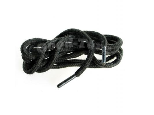 Шнурки для обуви цвет черный круглые 120 см. 1 уп. = 72 пар.