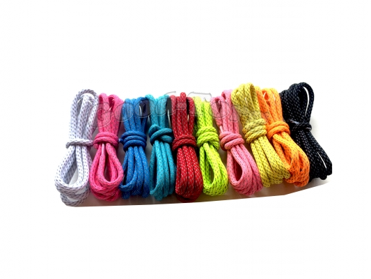 Шнурки для обуви цвет коричневый круглые 70 см. 1 уп. = 72 пар.